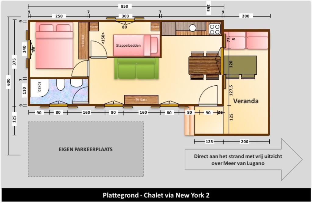 Chalet New York 2 - Chaletluganomeer.nl